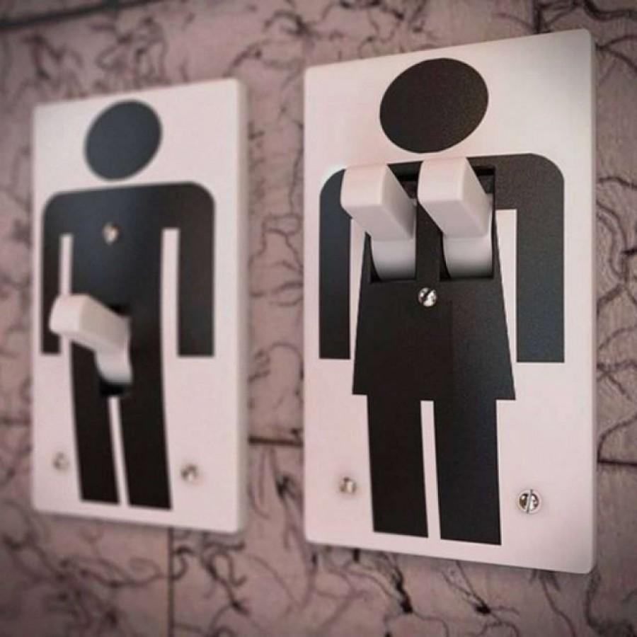 8 vicces mosdó ajtó FÉRFI vs. NŐ között
