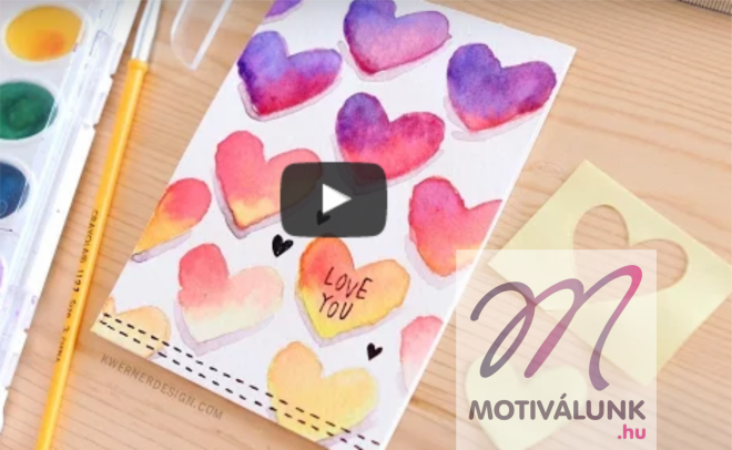 Készíts Valentin napi kártyát ezzel az egyszerű ötlettel a párodnak!