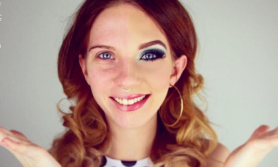 Ez a 17 nő megmutatja a fél arcát smink nélkül. Felfogni is nehéz, hogy mit képes javítani a smink!