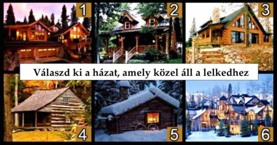 Neked melyik ház tetszik? Különleges dolgokat árul el rólad!