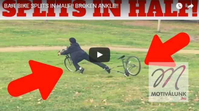 Így kell megleckéztetni a bicikli tolvajokat!!!