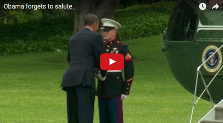 Obama elfelejtett tisztelegni a katonának. Aztán olyan dolgot csinált, amire nem számítottam!