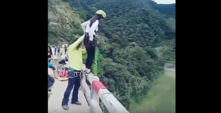 Bungee jumping baleset, amit nem akarsz átélni!