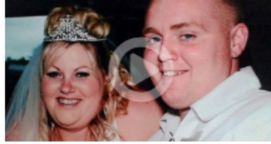 A túlsúlyos pár annyira kiakadt az esküvői képektől, hogy elszánt fogyókúrába fogtak – Íme az eredmény!